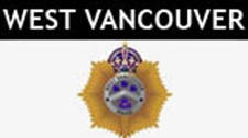 The logo for the West Vancouver Police is seen in this image.