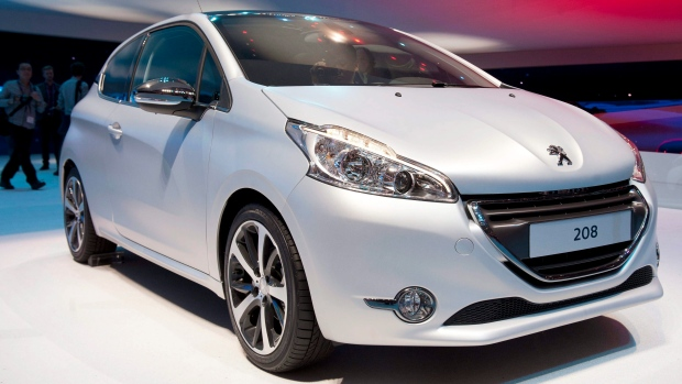 A Peugeot 208 is seen at the 82nd Geneva International Motor Show.