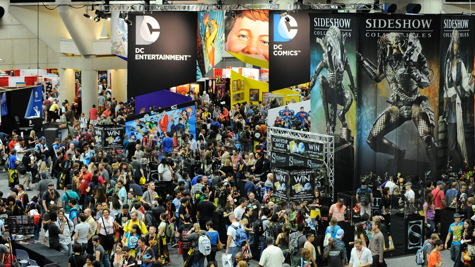 Thousands of fans walk through the exhibit hall on preview night at Comic-Con on at the San Diego Convention center Wednesday July 11, 2012, in San Diego. (Denis Poroy / Invision)
