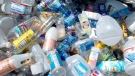 A variety of plastic bottles in a bin at a recycling center in Portland, Ore., Thursday, May 24, 2007.  (AP Photo/Greg Wahl-Stephens)