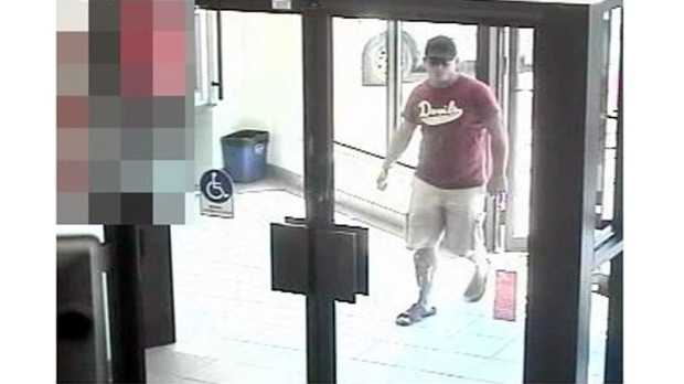 Image released by Waterloo Regional police of suspect in bank robbery on Doon Village road