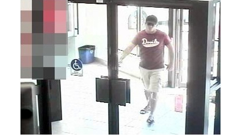 Image released by Waterloo Regional police of suspect in bank robbery on Doon Village road in Kitchener on Thursday, July 12, 2012
