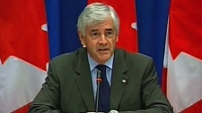Foreign Affairs Minister Lawrence Cannon holds a press conference in Ottawa on Monday, July 26, 2010