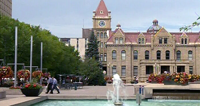 Calgary's City Hall. Calgary residents are the most satisfied Canadians when it comes to their quality of life, according to an Angus Reid Public Opinion survey.