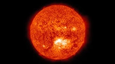 NASA image of a solar flare seen on Thursday July 12, 2012.