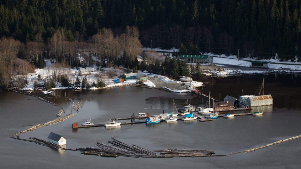 A small marina is pictured in Kitimaat Village, B.C., on Tuesday January 10, 2012. THE CANADIAN PRESS/Darryl Dyck