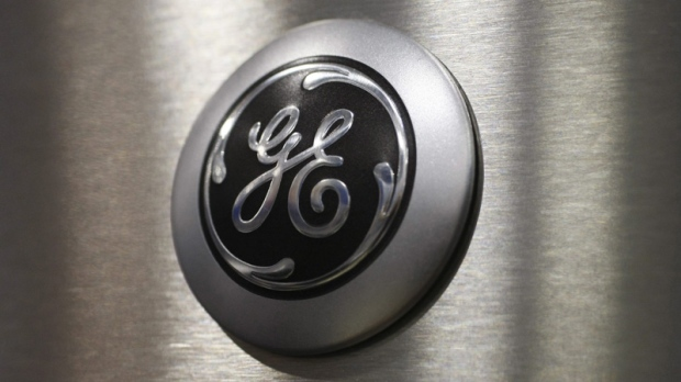 The General Electric logo.