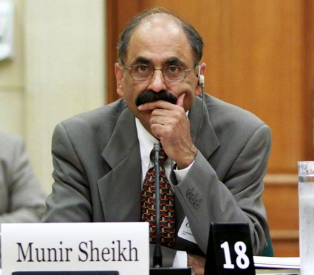 Former chief of Statscan Munir Sheikh looks on as he prepares to appear before the House of Commons Industry committee looking into changes of the long-form census on Parliament in Ottawa, Tuesday, July 27, 2010. (Fred Chartrand / THE CANADIAN PRESS)