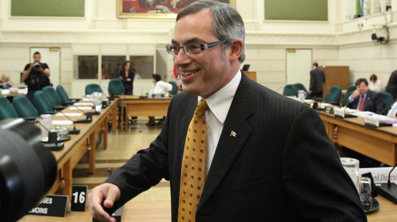Industry Minister Tony Clement prepares to appear before the House of Commons Industry committee looking into changes of the long-form census on Parliament in Ottawa, Tuesday July 27, 2010. (Fred Chartrand / THE CANADIAN PRESS)