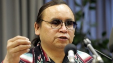 Chief Terrance Nelson of the Roseau River Anishinabe First Nation in Winnipeg on April 18, 2005.