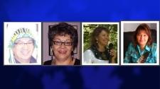 From right, George Stanley, Joan Jack, Ellen Gabriel and Diane Kelly