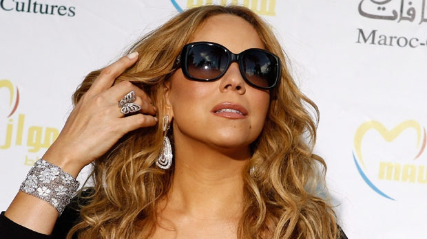 Singer Mariah Carey poses before a press conference, during the Mawazine Festival in Rabat, Morocco, May 25, 2012. (AP / Abdeljalil Bounhar)