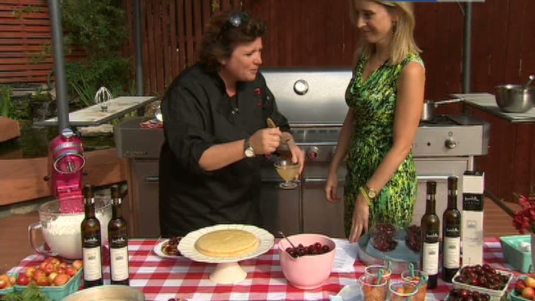 Chef Lynn Crawford shows how to make delicious ice wine summer treats, Tuesday, July 17, 2012.