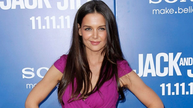Actress Katie Holmes poses at the premiere of