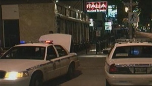 Officers respond to the incident outside Bar Italia in the 700 block of Corydon.