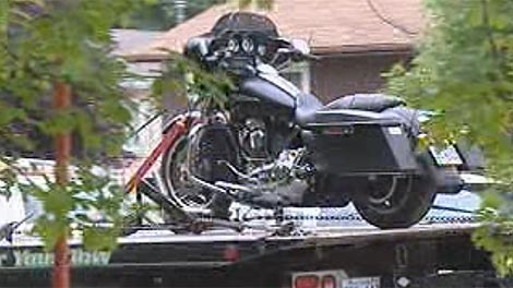 Motorcycles were also seized from the Hells Angels clubhouse in Winnipeg.