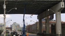 Concrete falls from Gardiner