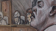 Alexander Chapman is seen in this court sketch