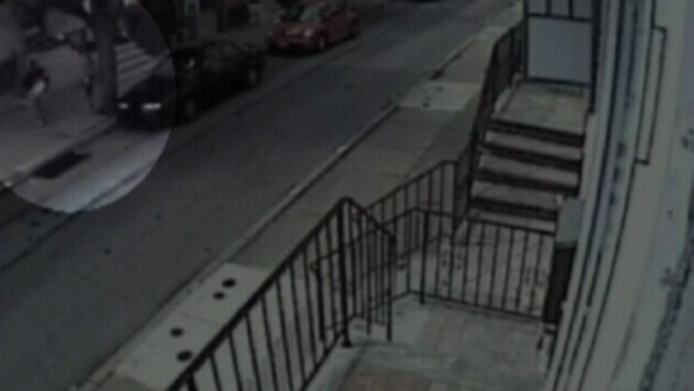 Surveillance footage shows a man attempting to abduct a 10--year-old girl in Philadelphia on Tuesday, July 17, 2012.