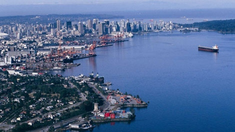 Vancouver's Burrard Inlet is seen in this file image. (Port Metro Vancouver)