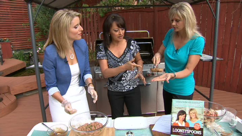 Janet and Greta Podleski of The Looneyspoons Collection show a couple hamburger recipes that will help shrink your buns, Thursday, July 19, 2012.