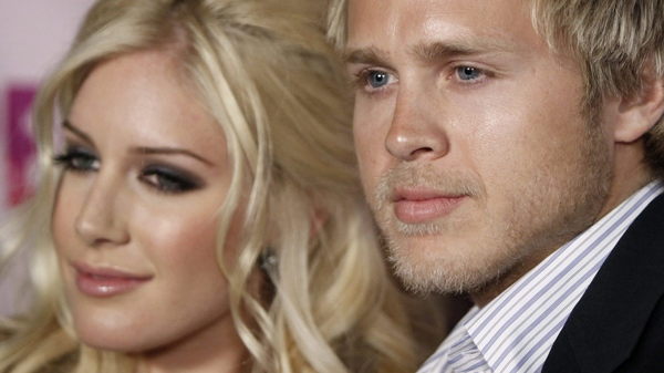 Spencer Pratt and Heidi Montag arrive at Perez Hilton's 31st Birthday Party in West Hollywood, Calif. on Saturday, March 28, 2009. (AP / Matt Sayles)