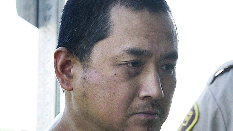Vince Li appears in a Portage La Prairie, Man. court Tuesday, August 5, 2008. (John Woods / THE CANADIAN PRESS)