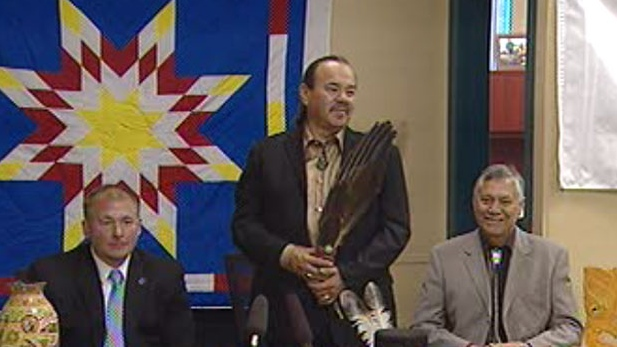 Tribal Wi-Chi-Way-Win Capital Corp. officials announce plans to create a chartered bank.