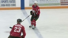 Local NHL stars hit the ice for charity.