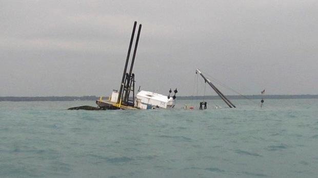 Lake Huron fuel spill