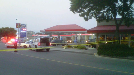 One man is dead after a shooting involving police in Kamloops, B.C. July 30, 2010. (Shane Woodford for ctvbc.ca)