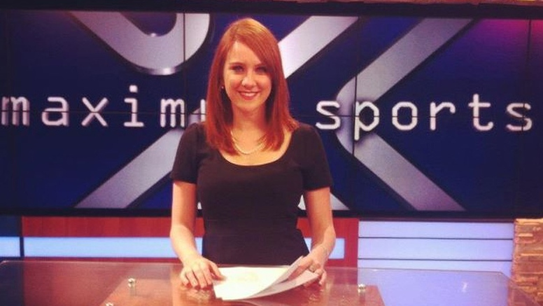 Jessica Ghawi, an aspiring sportscaster who was among 12 people killed when gunfire erupted at a midnight screening of 'The Dark Knight Rises' in Aurora, Colo., on July 20, 2012 is seen here in a photo from her Twitter account.