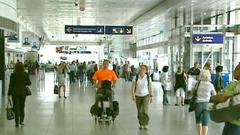 Passengers walk through Trudeau International airport in this undated image.