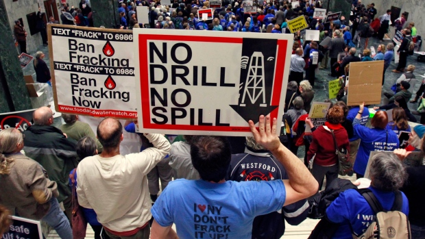 Fracking demonstration
