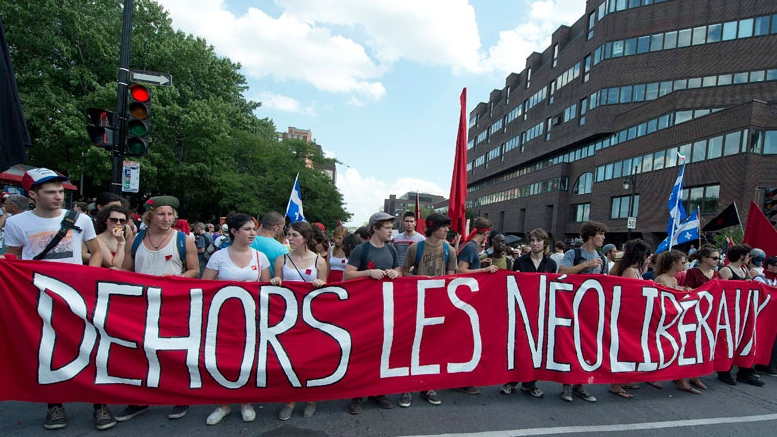 Thousands of people take to the streets in a mass demonstration against the Quebec Liberal government in Montreal, Sunday, July 22, 2012. (Peter McCabe / THE CANADIAN PRESS)
