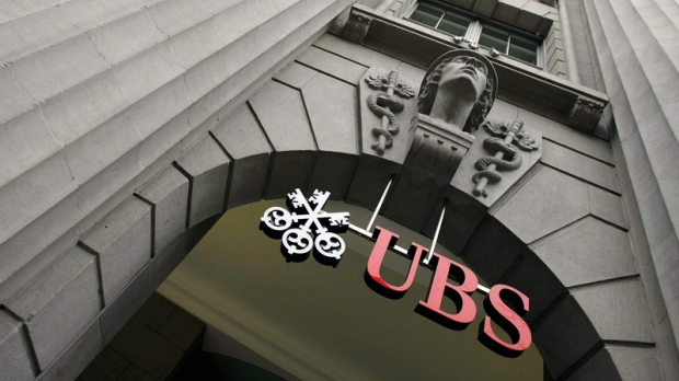 In this Jan. 30, 2008 file photo, the logo of Swiss Bank UBS is seen n Zurich,Switzerland.
