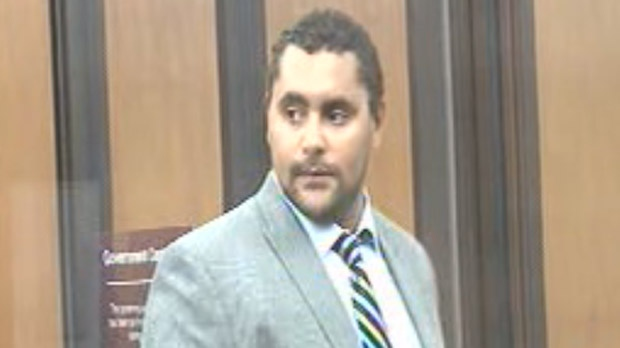 Winnipeg Jet Dustin Byfuglien appeared in a Minnesota court on July 23, 2012.