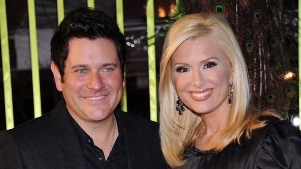 Jay DeMarcus of Rascal Flatts, left, and his wife, Allison at the 59th Annual BMI Country Awards.