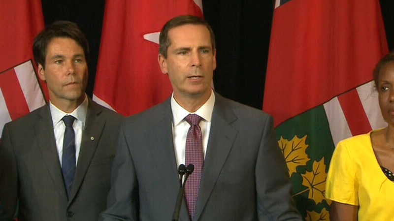 Ontario Premier Dalton McGuinty is seen speaking at a press conference at Queen's Park in Toronto, Monday, July 23, 2012.