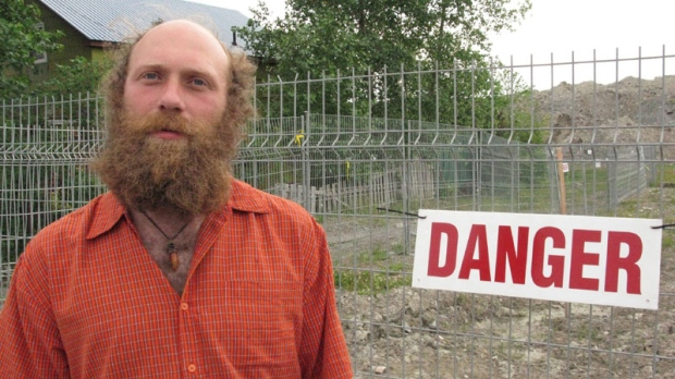 Ken Masse poses at his home in Malartic, Que. July 8, 2010. Masse faces expropriation after refusing to sell his house to make way for one of Canada's largest open-pit gold mines. (THE CANADIAN PRESS/Andy Blatchford)