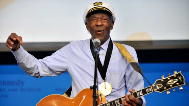 Funeral held for music legend Chuck Berry in St. Louis