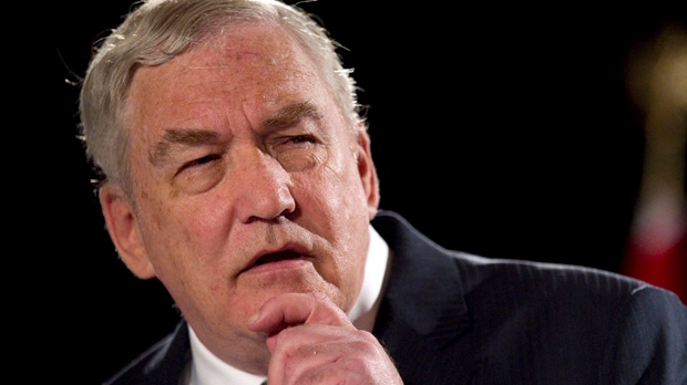 Conrad Black speaks in Toronto on June 22, 2012. (The Canadian Press/Chris Young)