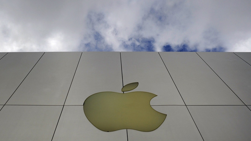 The Apple logo is seen on an Apple store in San Francisco Monday, Oct. 19, 2009. (AP / Russel A. Daniels)