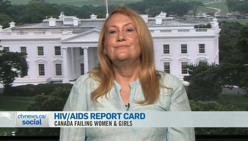 Louise Binder with the Blueprint Coalition for Action on Women & Girls & HIV speaks to CTV News Channel Tuesday, July 24, 2012.