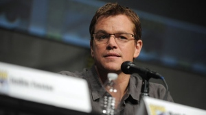 "Matt Damon attends the ""Elysium"" panel at Comic-Con on Thursday, July 12, 2012 in San Diego, Calif. (Photo by Jordan Strauss/Invision/AP)"