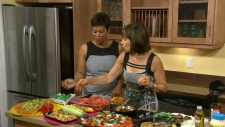 Rose Reisman shows Canada AM how to make tasty leafless salads, Wednesday, July 25, 2012.