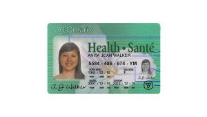 OHIP health card
