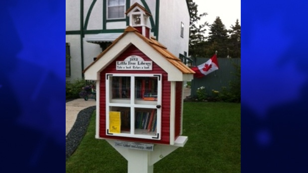 Charlene Roziere's Little Free Library is shown near Assiniboine Park in Winnipeg. (Courtesy of Charlene Roziere)