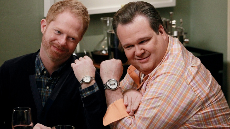 Jesse Tyler Ferguson, left, and Eric Stonestreet are shown in a scene from