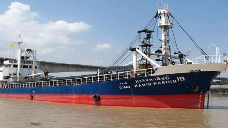 The MV Harin Panich 19, now known as the MV Sun Sea, is shown in this file photo. (CTV)